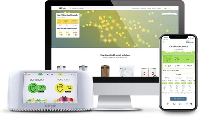 IQAir Smart Indoor Outdoor Air Quality Monitor