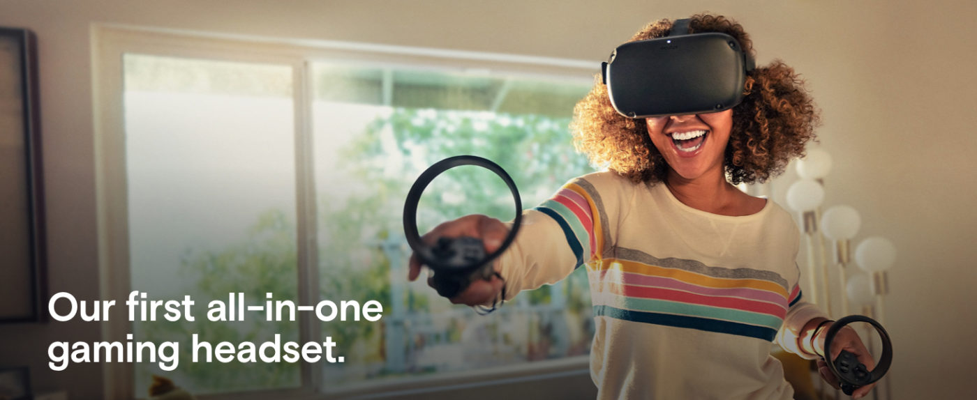 Oculus quest all in one VR gaming headset