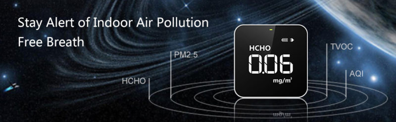Temtop M10 Air Quality Monitor for PM2.5 HCHO