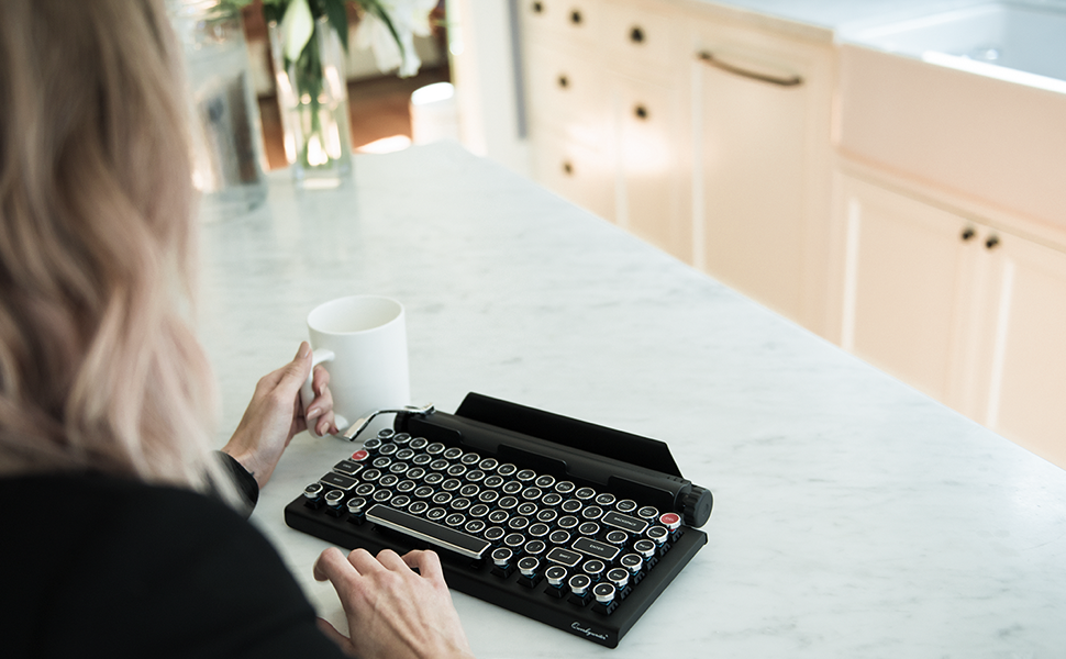 qwerkywriter s typewriter inspired keyboard