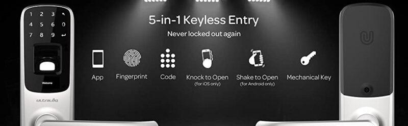 Ultraloq UL3 BT Bluetooth Enabled Fingerprint and Touchscreen Smart Lock